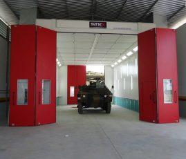 Batalhão Logístico, RS - cabine de pintura veículos pesados