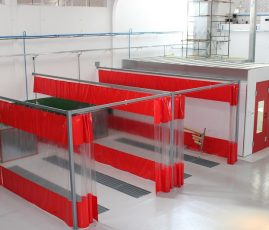 Modelo, BH - cabine de pintura e Áreas de preparação